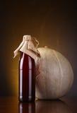 Pumpkin ale bottle Royalty Free Stock Photos