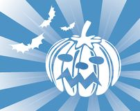 Pumpkin And Striped Background Royalty Free Stock Photo