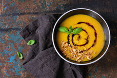 Free Pumpkin And Sweet Potato Soup Royalty Free Stock Photo - 74290275
