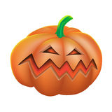 Pumpkin angry on white background Stock Image