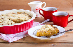 Pumpkin and apple cake Royalty Free Stock Images