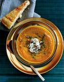 Pumpkin and apple soup, starter Royalty Free Stock Photos