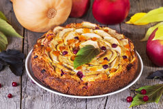 Pumpkin and apples pie Royalty Free Stock Photo