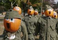 The Pumpkin Army stock images