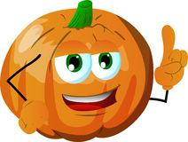Pumpkin with attitude Stock Images
