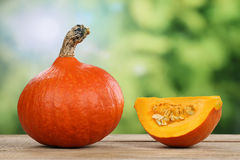 Pumpkin in autumn with copyspace Stock Photography