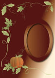 Pumpkin Background. Background with  leaves and a pumpkin ,Vector illustration Royalty Free Stock Photo