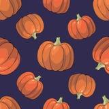 Pumpkin Background seamless pattern Stock Images
