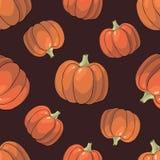 Pumpkin Background seamless pattern Royalty Free Stock Photos