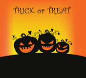 Pumpkin Background. Three monster pumpkin ready for hunt on halloween. EPS file available Stock Photography