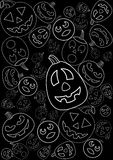 Pumpkin background: variant Stock Photography