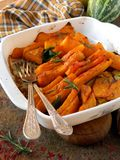 Pumpkin baked with rosemary and sage Stock Photography