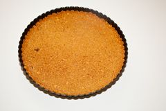 Pumpkin Banana Mousse Tart Royalty Free Stock Images