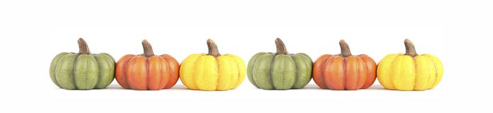 Pumpkin banner Stock Photos
