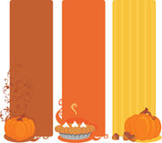 Pumpkin banners Stock Photography