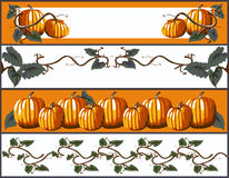 Pumpkin Banners Royalty Free Stock Images