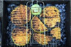 Pumpkin barbecue Stock Photo