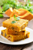 Pumpkin bars with nuts Stock Images