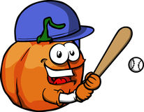 Pumpkin Baseball Batter Stock Photos