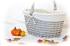 Pumpkin and basket Stock Photos