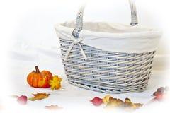 Pumpkin and basket Stock Photos