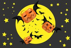 The pumpkin Bat Stock Image