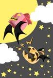 Pumpkin Bat Rampage Stock Photography