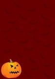 Pumpkin and bats Stock Photo