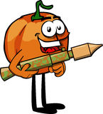 Pumpkin with bazooka Royalty Free Stock Photo