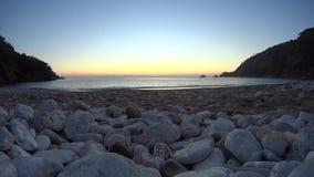Pumpkin beach to watch the sunset day stock video