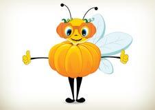 Pumpkin Bee Royalty Free Stock Photography