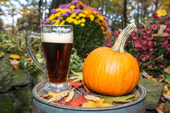 Pumpkin Beer Royalty Free Stock Photos