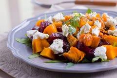 Pumpkin and beet salad Stock Photo