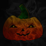 Pumpkin on black Stock Images