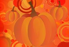 Pumpkin Bokeh. Abstract Fall Seasonal background featuring pumpkins and bokeh circles Stock Photography