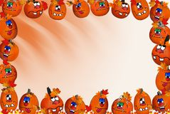 Pumpkin Border Royalty Free Stock Image