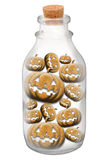 Pumpkin in bottle Royalty Free Stock Photos