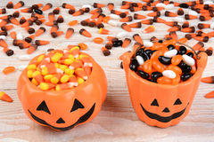 Pumpkin Bowl and Bucket Royalty Free Stock Photo