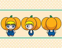 Pumpkin boy Royalty Free Stock Photo