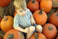 Pumpkin_boy Photographie stock