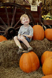 Pumpkin_boy Photo libre de droits