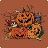 Pumpkin-Boys Stock Images