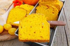 Pumpkin Bread with Bacon Royalty Free Stock Photos