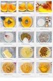 Pumpkin bread - part 1. Photo of pumpkin bread recipe part 1 Royalty Free Stock Photography