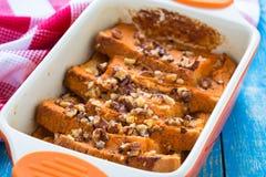 Pumpkin bread pudding Royalty Free Stock Photo