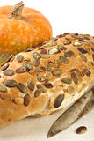 Pumpkin bread with seeds Royalty Free Stock Image