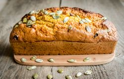 Pumpkin bread Royalty Free Stock Image