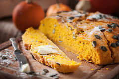Pumpkin bread Royalty Free Stock Photos