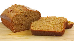 Pumpkin Bread and Slices Royalty Free Stock Photos