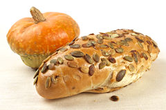 Pumpkin Bread With Seeds Stock Images